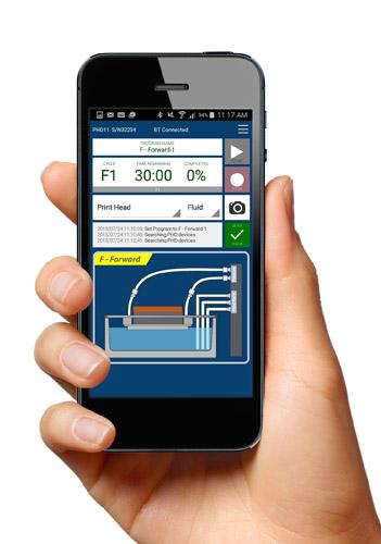 PHD mobile app control