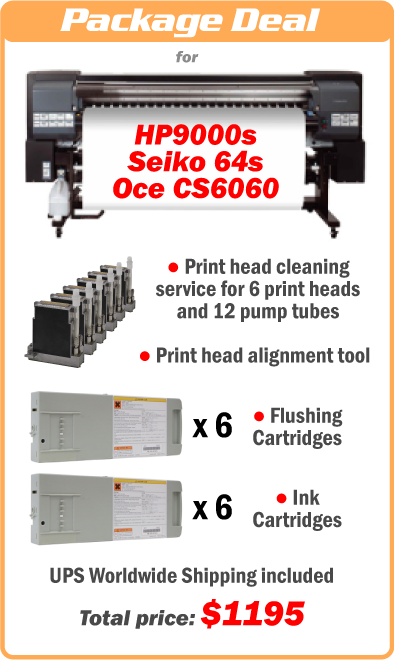 Seiko 64s / HP9000s / Oce 6060 solvent printer recovery kits